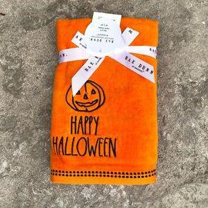 Rae Dunn HAPPY HALLOWEEN Set of 2 Hand Towels